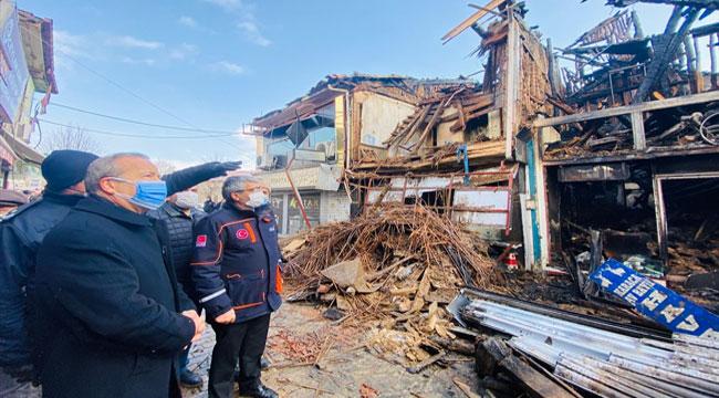 Milletvekili Taytak, Bolvadin'de yangın yerinde!..