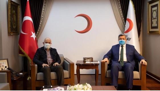 Özkaya, Kızılay Genel Başkanı ile görüştü