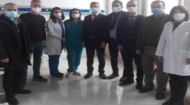 Sağlık Müdürü, AFSÜ aşılama birimini ziyaret etti