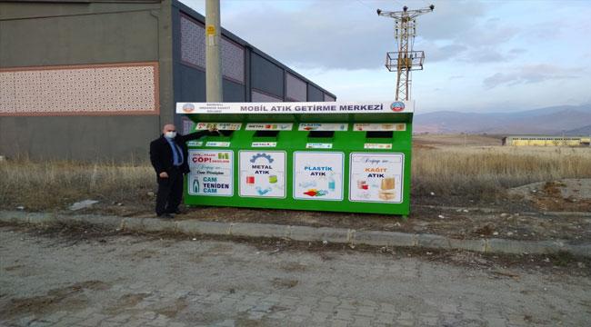 """Sandıklı OSB'ye """"mobil atık getirme merkezi"""" konteyneri yerleştirildi"""