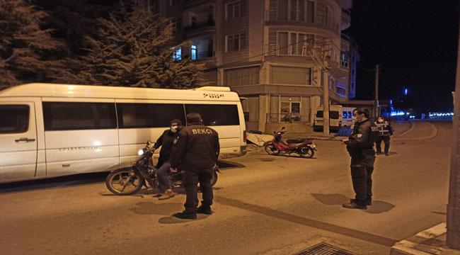 Şuhut'ta polis 56 saatlik kısıtlamada göz açtırmadı