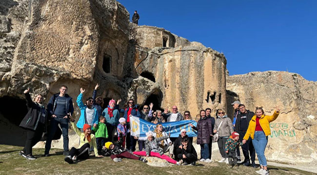 Ve yılın ilk turist kafilesi Ayazini'de!..