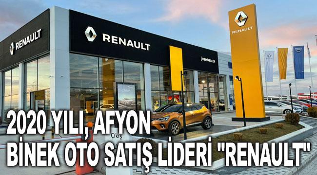2020 yılı Afyon binek oto satış lideri Renault