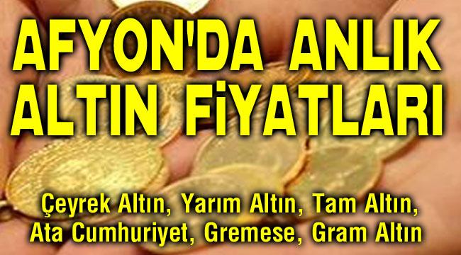 Afyon'da altın fiyatları 10.02.2021