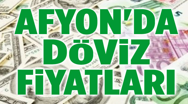 Afyon'da döviz dolar euro fiyatları