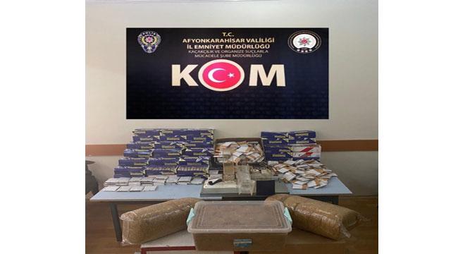 Afyon'da kaçak sigara operasyonu: 3 gözaltı