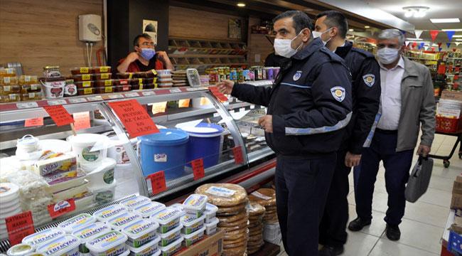 Afyon'da marketlere fiyat denetimi yapıldı