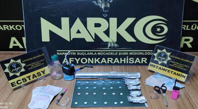 Afyon Narkotik'ten 3 mahalleye birden eşzamanlı operasyon!.. 4 gözaltı var!..