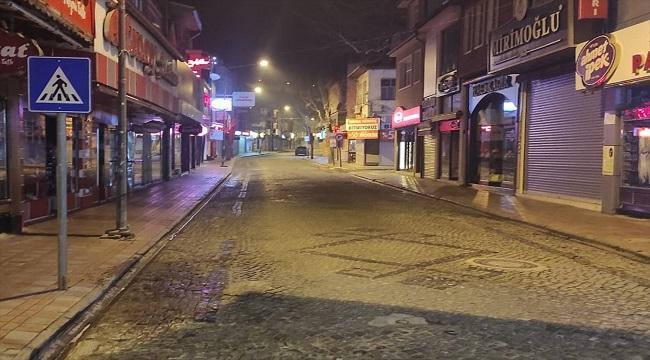 Afyon'da sokağa çıkma kısıtlaması başladı