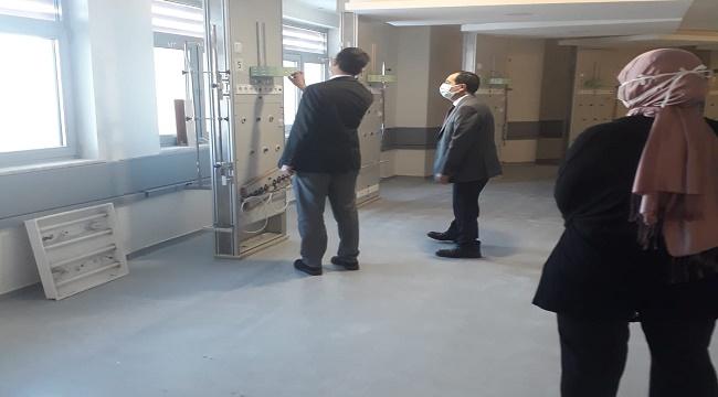 Afyon Devlet Hastanesinde yoğun bakım servislerinin tadilatı devam ediyor