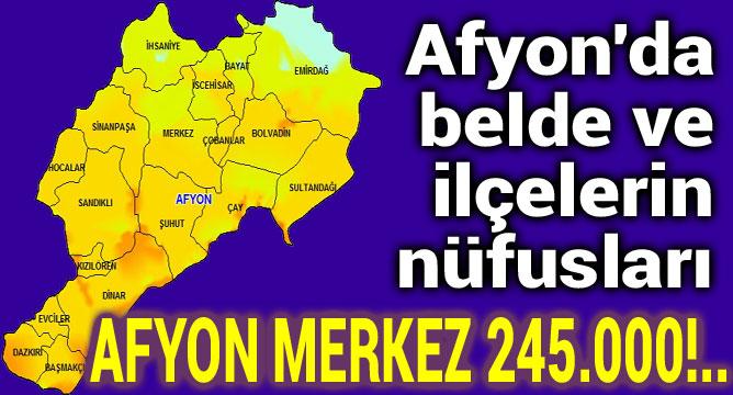 Afyon Merkez'in nüfusu 245.000 oldu!..