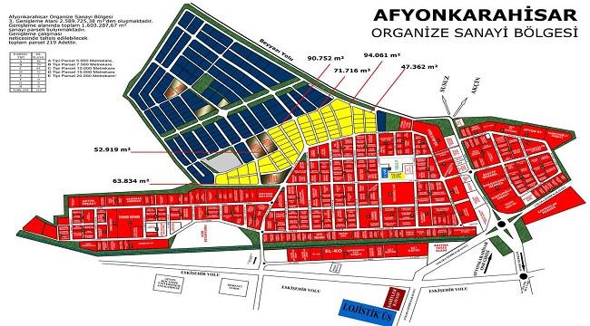 Afyon OSB'de 219 yatırımcıya yeni arazi!..