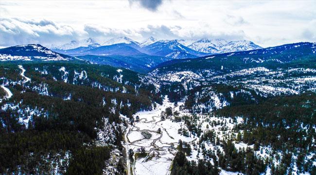 Akdağ'daki kış güzelliği hayran bırakıyor