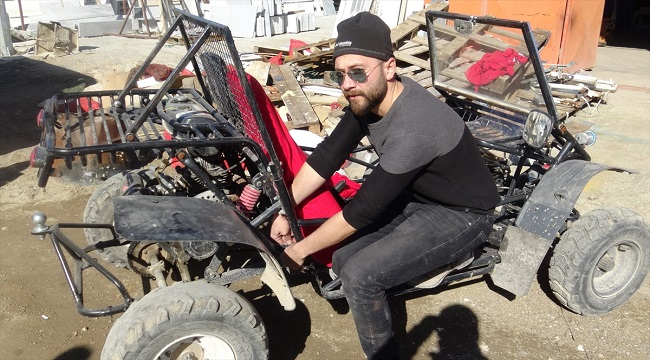 Atık malzemeden off-road araç yaptı!..