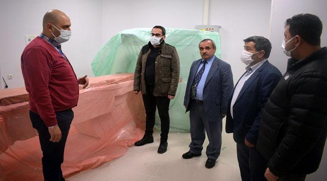 Başkan Şahin, hastane çevresindeki çalışmaları inceledi