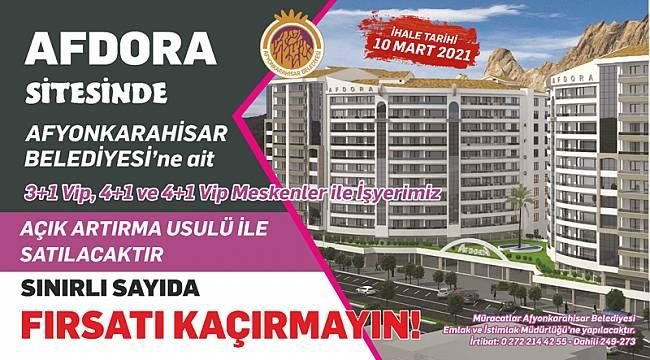 Belediye, Afdora Sitesindeki vip daire ve işyerlerini satışa çıkardı, işte şartları!..