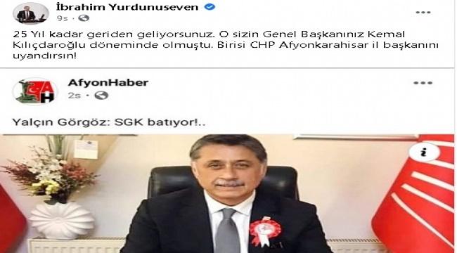 Birisi CHP İl Başkanını uyandırsın!..