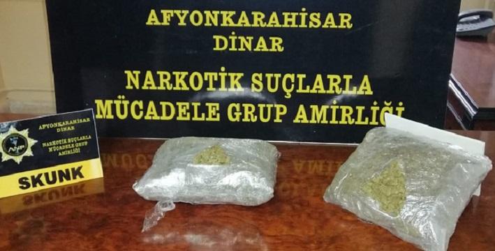 Dinar'da uyuşturucu operasyonu, yabancı uyruklu 4 kişi gözaltına alındı
