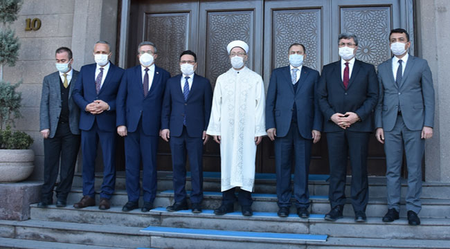 Diyanet İşleri Başkanı Ali Erbaş, Afyon'da ziyaretlerde bulundu
