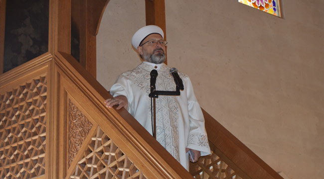 Diyanet İşleri Başkanı Ali Erbaş, Paşa Camiinde hutbe okudu