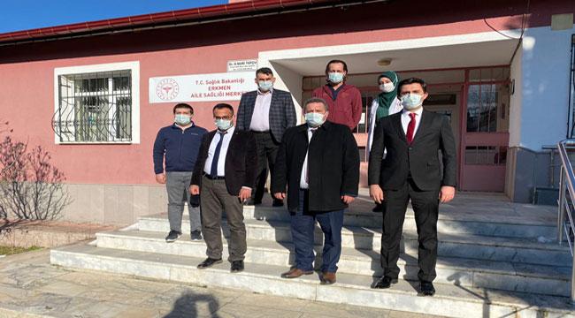 Dr. Şükrü Boz köylerdeki aile sağlığı merkezlerini ziyaret etti