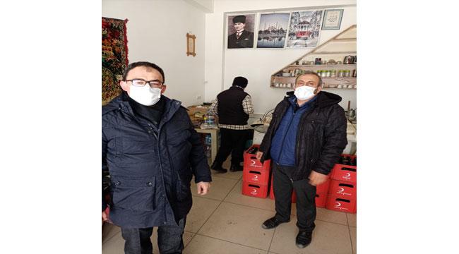 Emirdağ'da çay ocakları müşteri kabul etmeksizin hizmet vermeye başladı