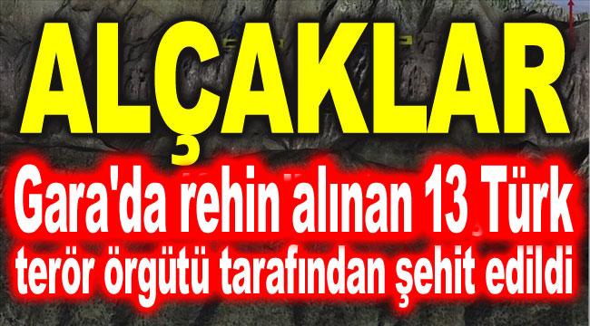 Gara'da 13 Türk, terör örgütü tarafından şehit edildi