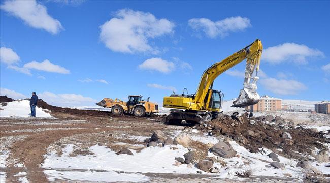 İscehisar'da yeni cami inşaatı çalışmaları