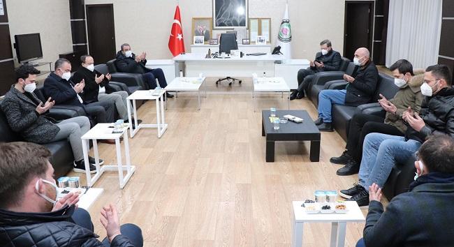 TOBB'dan Mehmet Mühsürler'e taziye ziyareti