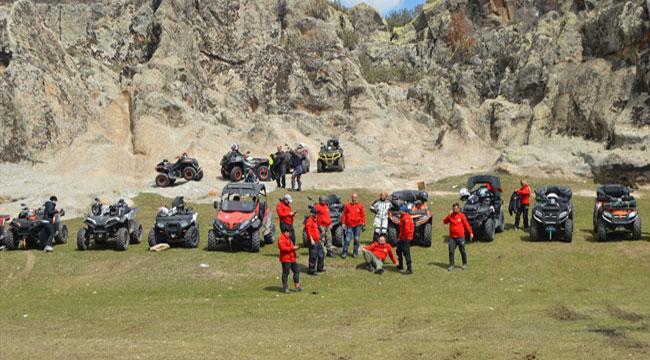 Afyon'da ATV ve UTV tutkunları, Frigya'yı gezdi