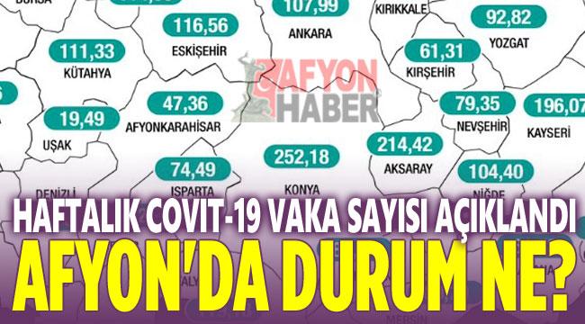 Afyon'da haftalık 100 bin'de koronavirüs vaka sayısı açıklandı