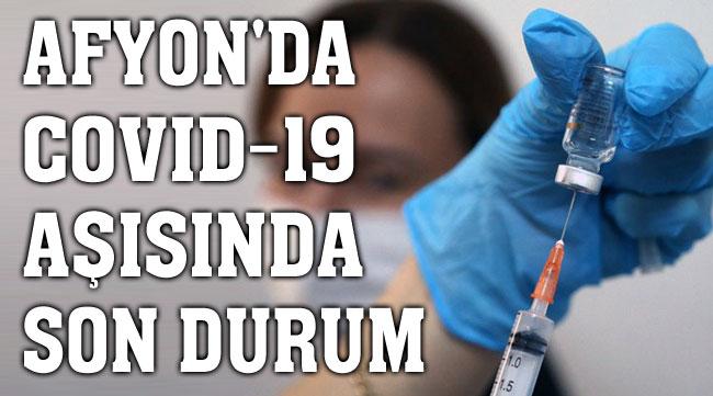 Afyon'da koronavirüs aşısında son durum?..
