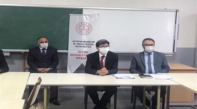 Afyon'da liselere giriş sınavı hazırlık süreçleri değerlendirme toplantısı yapıldı