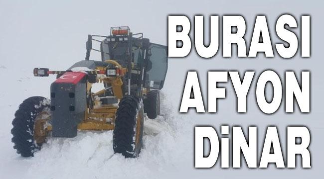 Afyon Dinar'dan kış görüntüsü!..