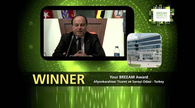 ATSO binası, yeşil bina kategorisinde yapılan oylamada Dünya birincisi seçildi