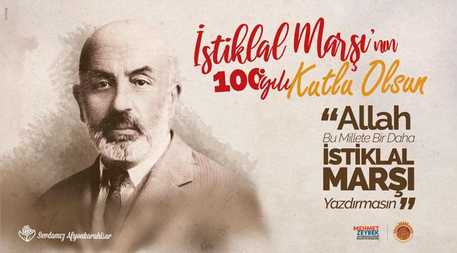 Başkan Zeybek'in İstiklal Marşı mesajı
