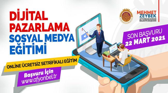 Belediye'den dijital pazarlama sosyal medya eğitimi
