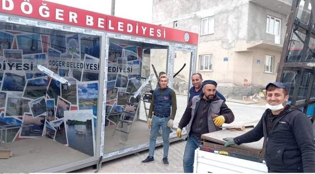Döğer'de gönüllü gençlerden güzel projeler