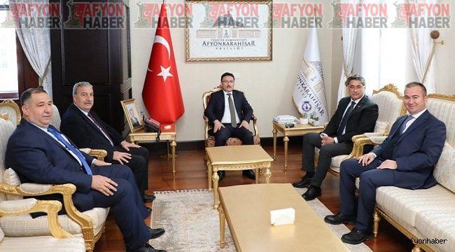Dört partinin il başkanı, Vali Gökmen Çiçek'i ziyaret etti