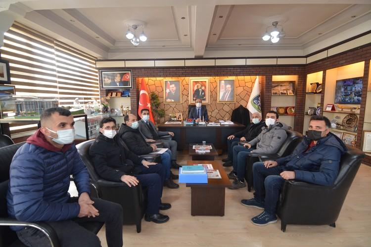 DSİ 18. Bölge Müdürlüğünden Başkan Mustafa Çöl'e ziyaret