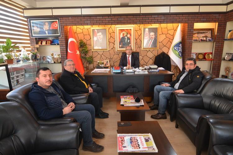 İHA Afyon temsilcileri Başkan Çöl'ü ziyaret etti