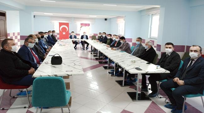 Şuhut'ta idare şube başkanları toplantısı yapıldı