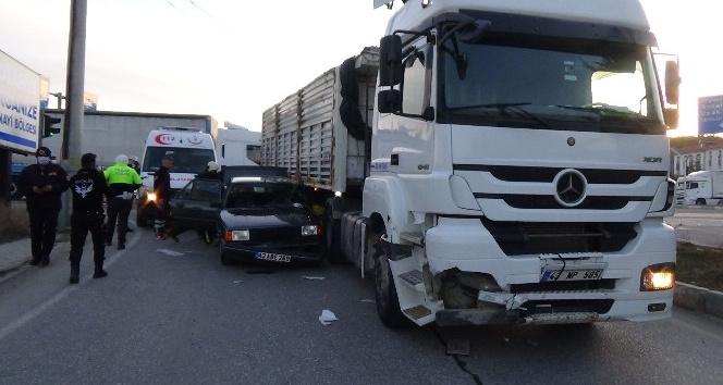Trafik kazası, 3 yaralı