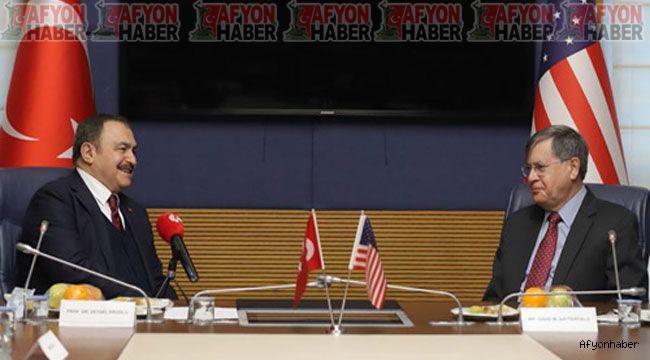Veysel Eroğlu, ABD Büyükelçisi David M. Satterfield ile görüştü