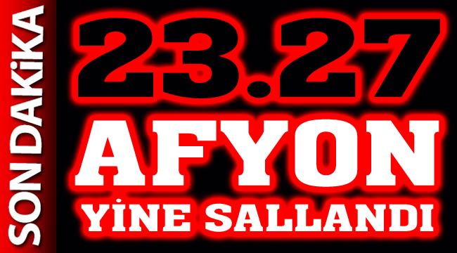 23.27'de Afyon yine hafif sallandı