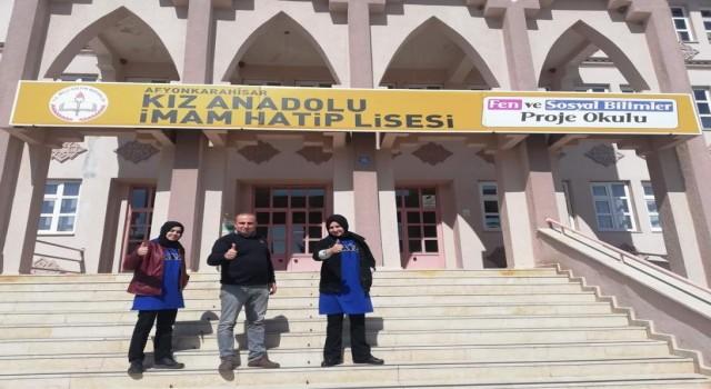 Afyon Anadolu Proje Kız İHL, TÜBİTAK Lise Yarışmasında bölge ikincisi oldu