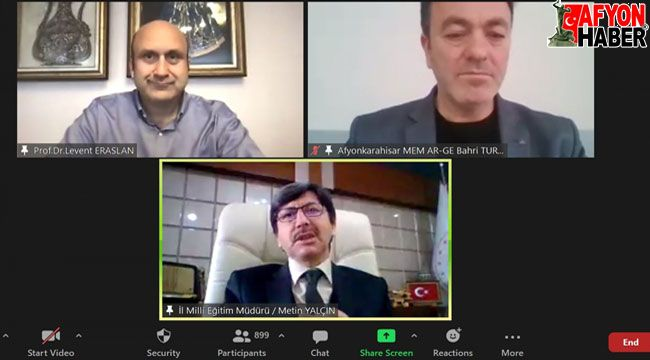 Afyon'da çevrimiçi Pandemi Döneminde Öğretmen Olmak semineri düzenlendi