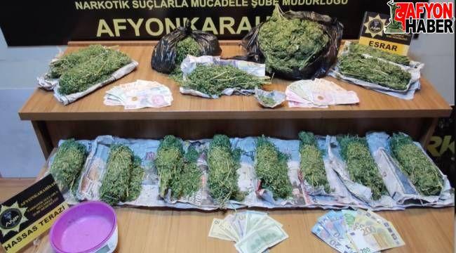 Afyon'da uyuşturucu operasyonu, 2 tutuklama