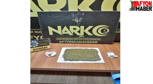 Afyon'da uyuşturucu operasyonunda 2 şüpheli yakalandı
