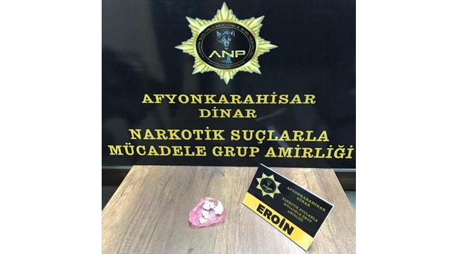 Afyon'da uyuşturucu operasyonunda 3 şüpheli yakalandı